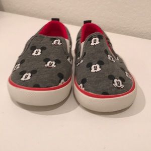 Baby GAP Mickey slip on sneakers, size 6T